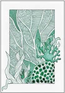 Ocean Sea Plants Drawing