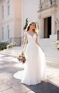 Casual Long-Sleeved Wedding Dress - Stella York Wedding ...