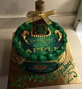 Green Apple Crown Royal Cake   T Dirty 30   Pinterest ...