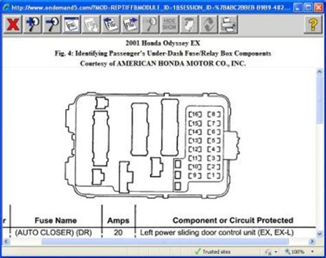 free download parts manuals 2001 honda odyssey instrument cluster honda odyssey fuse locations