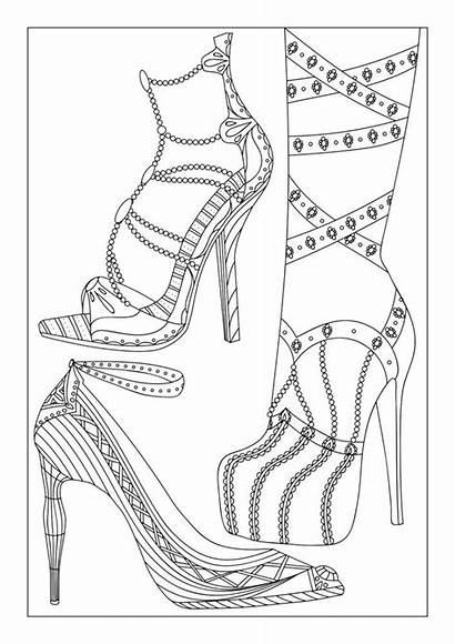 Coloring Pages Shoes Adult Adults Shoe Colouring