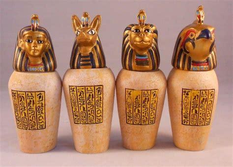 canopic jars set of 4 resin decorative