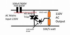 How To Make A 220v To 110v Converter Circuit