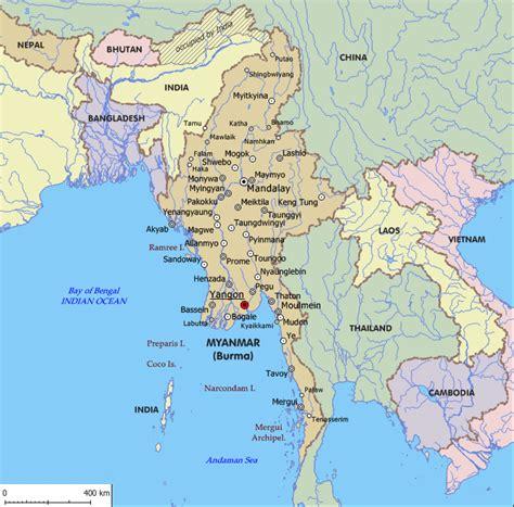 maps  myanmar burma bay  bengal yangon rangoon