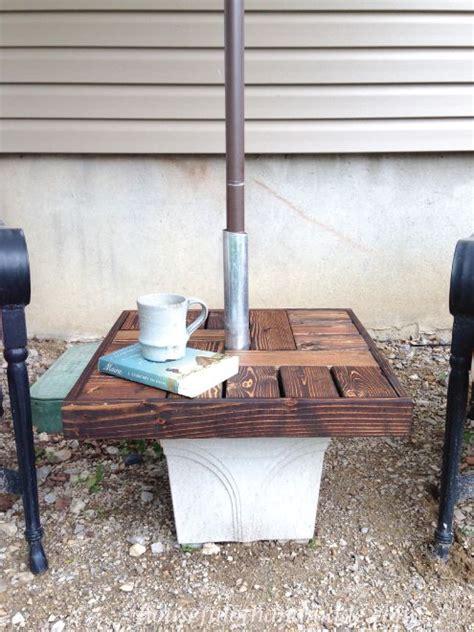 diy umbrella stand  side table hometalk