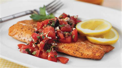 pan seared trout  italian style salsa quick  easy main dish dinner ideas southern living