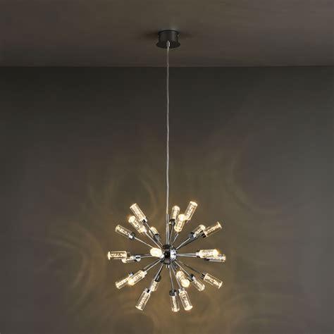 hubble modern chrome effect ceiling light departments diy at b q