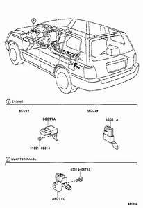 2006 Toyota Highlander Radio Amplifier  Seat  Leather
