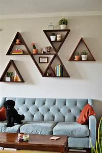 Etagere Murale Triangle : beaucoup d 39 id es en photos pour relooker sa maison ~ Teatrodelosmanantiales.com Idées de Décoration