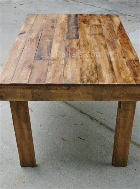 make kitchen table easy to make pallet wood dining table pallet furniture