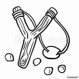 Slingshot Simple Vector Catapult Vectors Template Clipart Coloring Pages Vectorstock Sketch Cartoon Dreamstime Illustrations sketch template