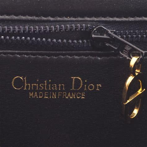 vintage christian dior cd logo monogram trotter   shoulder bag nina furfur vintage boutique
