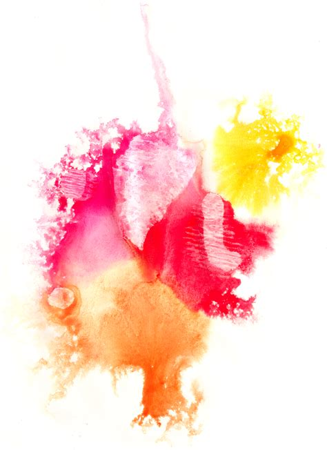 Abstract Shapes Watercolor by 4 Colorful Abstract Watercolor Shapes On Paper
