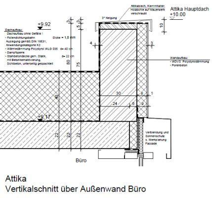flachdach ohne attika verwaltung der stadtwerke lemgo flachdach b 252 ro und