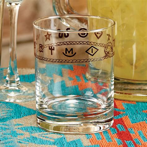 rope brands double  fashioned glasses set
