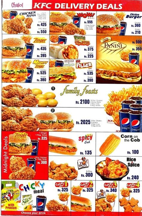 Jans Broast Boat Basin Menu by Kfc Boat Basin Restaurant In Karachi Menu Timings