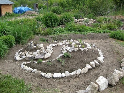 Spiral Herb Garden Design Photograph