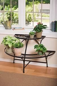Semi-circular, Metal, Plant, Stand