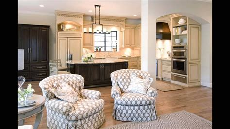 modern kitchen family room combo combination layout