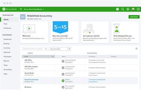client dashboard  accounting quickbooks australia