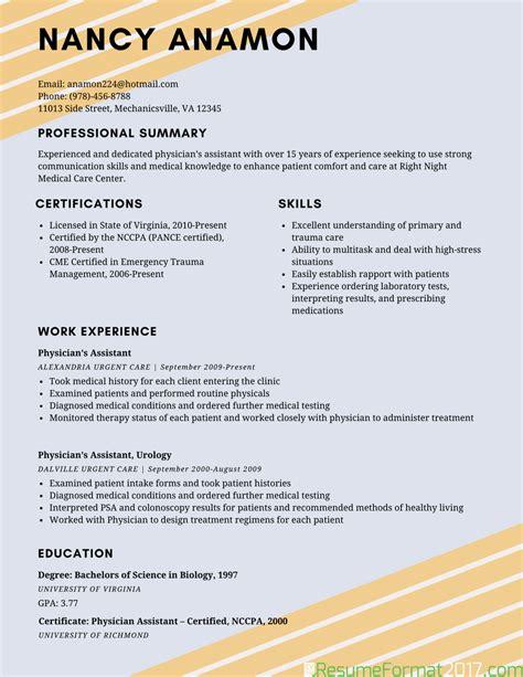 example of best resume example of best resume format 2018 resume format 2017