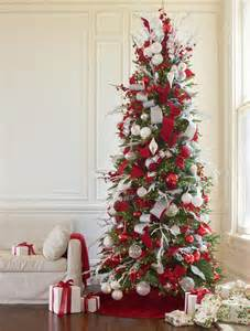 white and sparkle tree tree decorating ideas