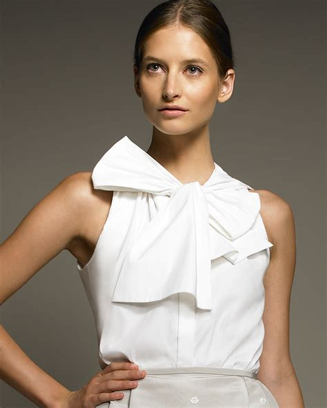 bow neck blouse jason wu bow neck blouse in white lyst