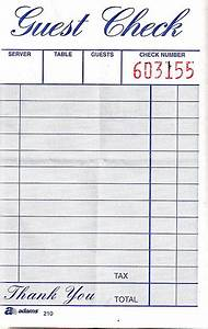 9 best images of restaurant receipt template fake With restaurant guest check template