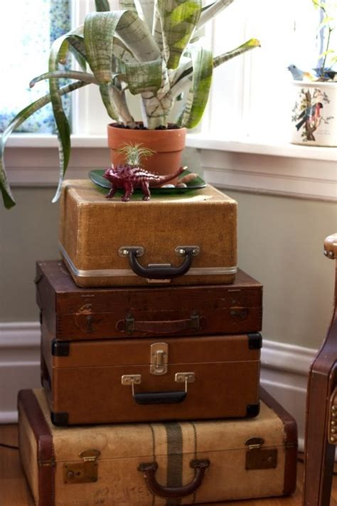 auction decorating vintage suitcases  trunks  furniture  auction