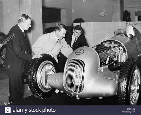 Adolf Hitler During A Tour Of The Mercedes Racing Car Of