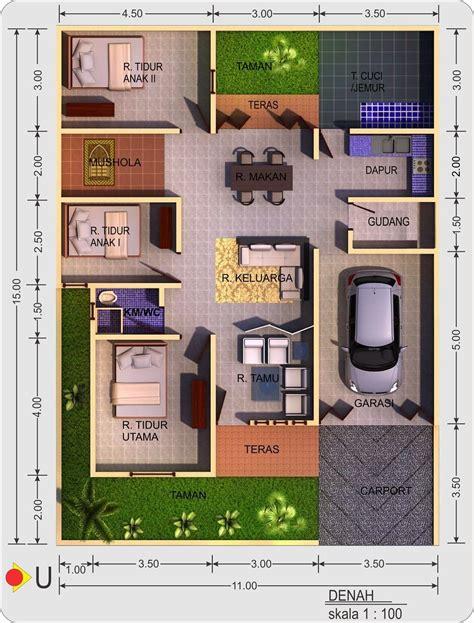 desain denah rumah minimalis terbaru  house