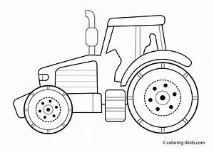 tractor transport coloring pages for kids printable With tractor template to print