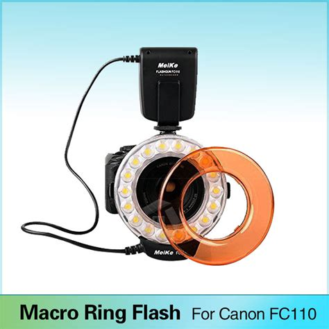 ring light flash canon meike fc 110 led macro ring flash light for canon eos 5d