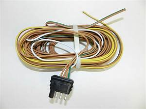 Trailer Wire Harness 4 Way Plug Flat 25 U0026 39  Trailer Wiring