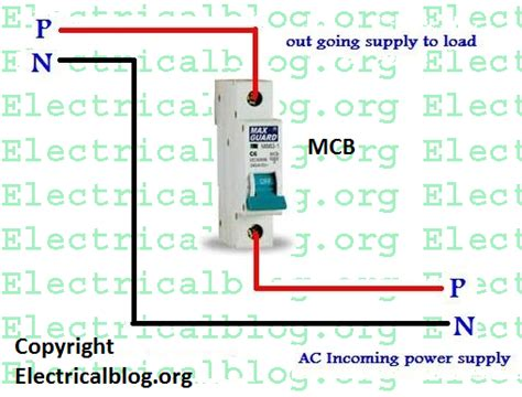 single pole mcb connection diagram wiring mcb video tutorial