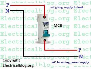 Single Pole Mcb Connection Diagram