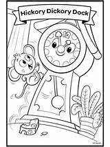 Hickory Rhymes Dickory Crayola sketch template