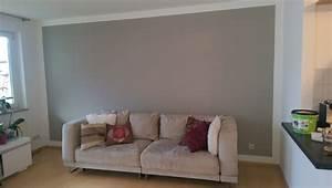 Wand Grau Streichen : wand mit wei em rand grau streichen 1 und imag1418 ~ Frokenaadalensverden.com Haus und Dekorationen