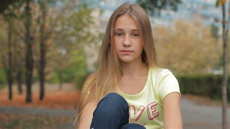 Portrait Of Beautiful Sad Teenage Stock Footage Video 100 Royalty Free 17179174 Shutterstock