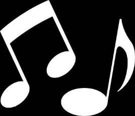 White Music Notes Clip Art