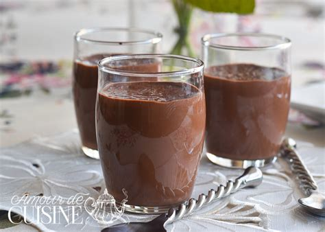 cuisine recette dessert recette crème dessert au chocolat façon danette amour de