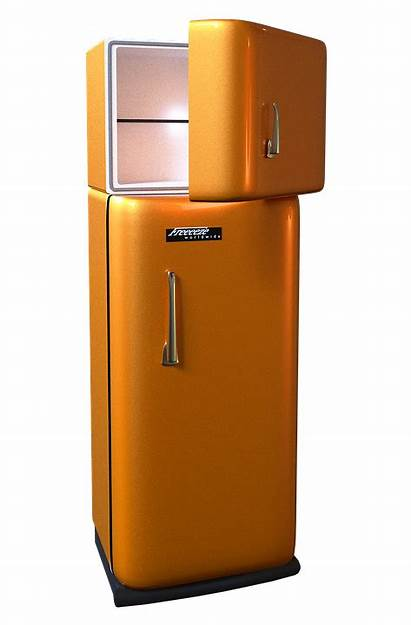 Fridge Refrigerator Freezer Retro Seventies Transparent Pluspng