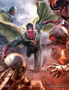 Vision Battles Drones in AVENGERS: AGE OF ULTRON Promo Art ...