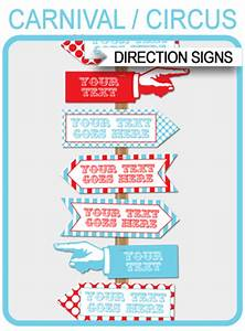 Cooking Party Invitations Circus Directional Signs Arrows Carnival Or Circus Party