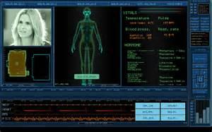 Futuristic Computer Interface Display
