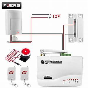 Gsm Alarm System For Home Security System With Wired Pir  Door Sensor Dual Antenna Burglar Alarm