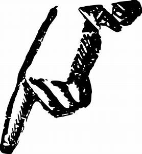 Clipart - Hand Pointing Down