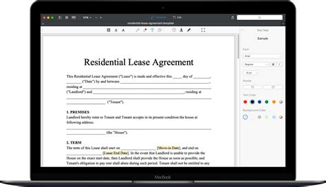 residential lease template  rental