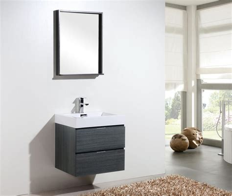 Modern Bathroom Accessories Canada by Bliss 24 Quot Kubebath Grey Oak Wall Mount Modern Bathroom