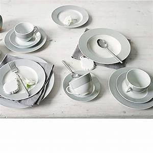Geschirr Set Weiß : kombiservice allegra aus porzellan 30 teilig grau online kaufen bei woonio ~ Buech-reservation.com Haus und Dekorationen
